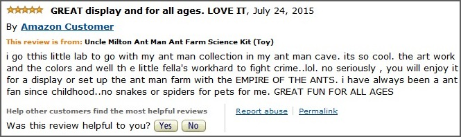 Ant Man Ant Farm Customer Reviews