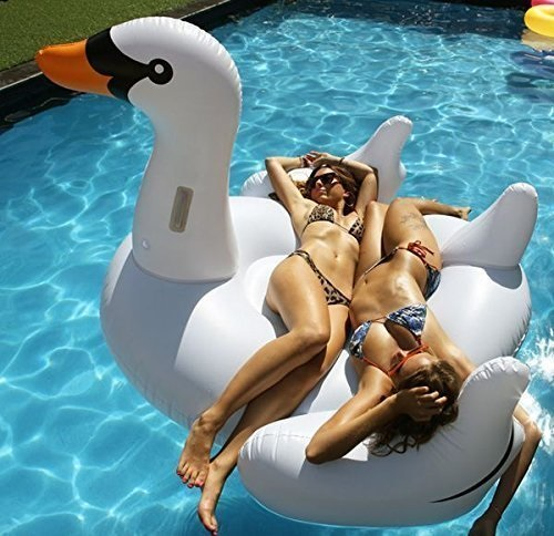 Giant Swan Inflatable Pool Ride On Review
