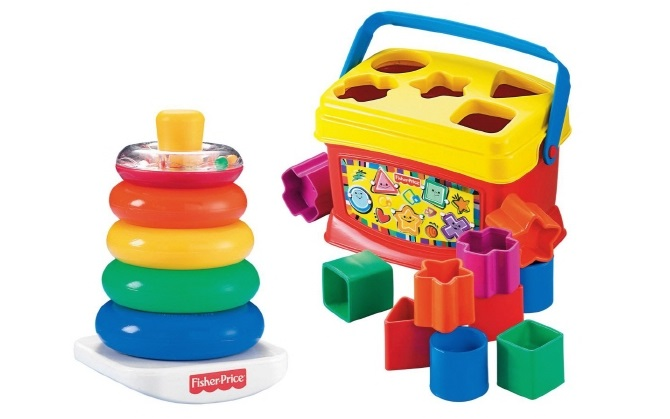 Fisher Price Babys First Blocks and Rock Stack Bundle