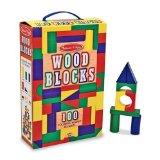 Melissa Doug 100-Piece Wood Blocks Set